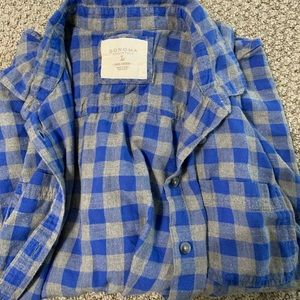 Blue and gray juniors large flannel